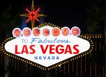 Signe bienvenu iconique de Las Vegas Images stock