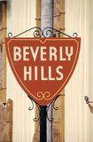 Signe bienvenu vers Beverly Hills photo libre de droits