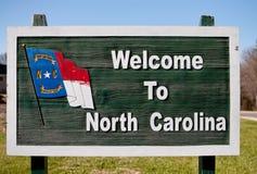 Signe bienvenu vers la Caroline du Nord Photos libres de droits