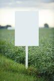Signe blanc Photographie stock libre de droits