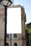 Signe blanc Photo libre de droits