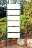 Signe blanc Image stock