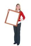 Signe blanc Photos libres de droits