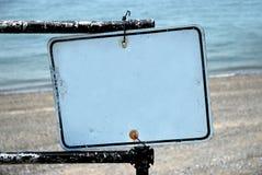 Signe blanc - ajoutez votre texte Photos stock