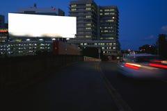Signe blanc avec le chemin de découpage Photo libre de droits