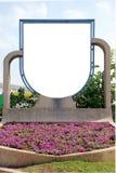 Signe blanc avec une zone d'espace de copie Photos libres de droits