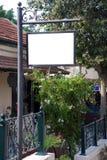 Signe blanc avec une zone d'espace de copie Photographie stock