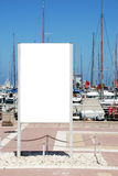 Signe blanc blanc Photo libre de droits