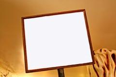 Signe blanc blanc Image stock