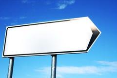 Signe blanc brillant Image stock