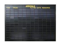 Signe blanc d'aéroport Photo stock