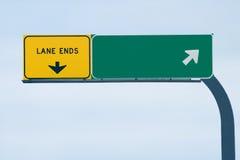Signe blanc d'autoroute Photo stock