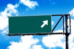 Signe blanc d'autoroute photographie stock libre de droits
