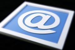Signe blanc d'email d'isolement Image libre de droits