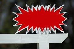 Signe blanc d'immeubles Image stock