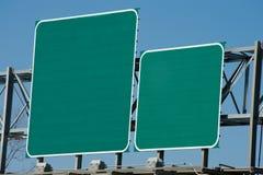 Signe blanc d'omnibus Photo libre de droits
