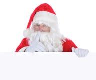 signe blanc de Claus Santa photo libre de droits