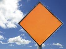 Signe blanc de construction Image libre de droits
