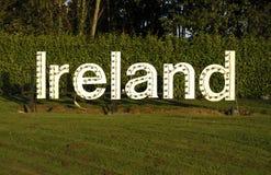 Signe blanc de l'Irlande Photo libre de droits