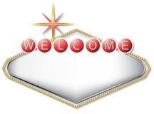 Signe blanc de Las Vegas Image libre de droits