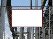 signe blanc de panneau illustration de vecteur