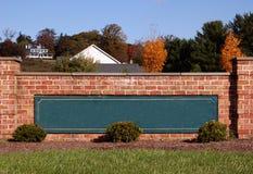 Signe blanc de subdivision Images libres de droits