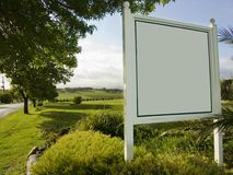 Signe blanc de vigne Image stock