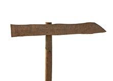 Signe blanc en bois AVEC LA CORRECTION de DÉCOUPAGE Images libres de droits