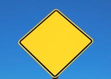 Signe blanc pour le texte Photographie stock libre de droits
