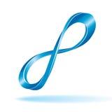 Signe bleu d'infini Photographie stock libre de droits