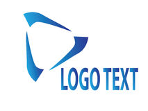 Signe bleu de logo Image libre de droits