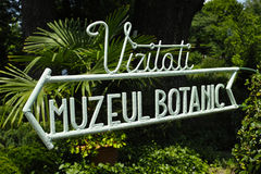 Signe botanique de musée de Bucarest Images libres de droits