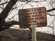 Signe brûlé de parc du feu de forêt Images libres de droits