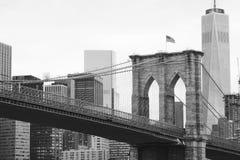 Signe, briques, près de la passerelle de Brooklyn Image stock
