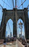 Signe, briques, près de la passerelle de Brooklyn Freedom Tower, Manhattan Images stock