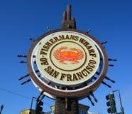 Signe célèbre de Wharf de pêcheur Photos stock
