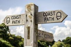 Signe côtier de chemin Images libres de droits