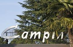 Signe campant Photos stock