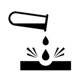Signe caustique de danger de produits chimiques illustration libre de droits