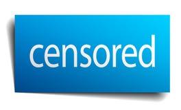signe censuré illustration stock