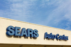 Signe central automatique de Sears Images libres de droits