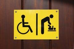 Signe changeant handicapé et de chéri Image stock