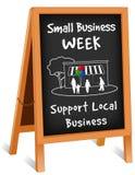 Signe, chevalet se pliant, petit Business Week Photo stock