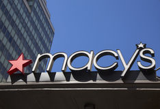 Signe chez Macy's Herald Square sur Broadway à Manhattan Photo stock