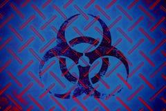 Signe chimique épidémique d'alerte de virus de bio risque photos stock