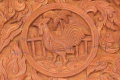 Signe chinois d'animal de zodiaque de coq Photo stock