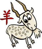 Signe chinois d'horoscope de zodiaque de chèvre illustration stock