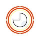 Signe circulaire et symbole graphiques de vecteur d'icône d'isolement sur b blanc illustration stock