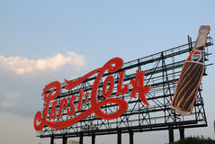 Signe classique de pepsi-cola image stock