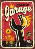 Signe classique de vintage de garage illustration stock